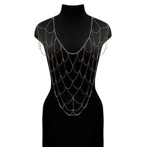 Elegante Ketting Net Top Goud