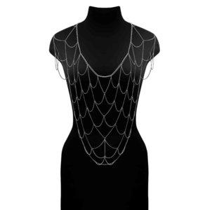 Elegante Ketting Net Top Zilver
