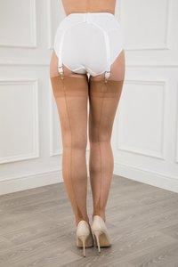 Eleganti Originele Naadkousen met Point Heel, kleur Natural